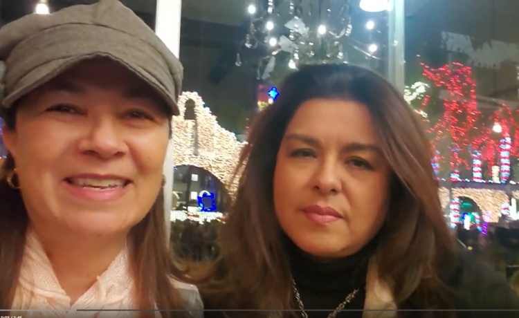 Merry Christmas message for you from Marcy and Gigi